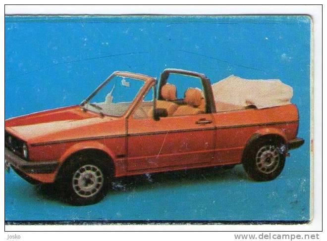 VOLKSWAGEN VW GOLF 1 - Germany ( Croatia Vintage Card ) Car Automobile Auto Cars Automobiles Autos Oldtimer Oldtimers - Unclassified