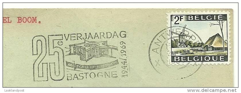 Belgium Cancel 25 Years Bastogne 1944-1969 - Gelegenheidsafstempelingen