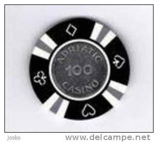 ADRIATIC CASINO ( Croatia ) Jeton Spielmarke Vale Ficha Gettone Fiche Tokens Jetons Gettones - Casino