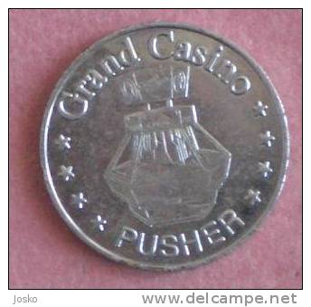 GRAND CASINO DVG PUSHER  *  Token Jeton Spielmarke Vale Ficha Gettone Fiche Tokens Jetons Gettones - Casino
