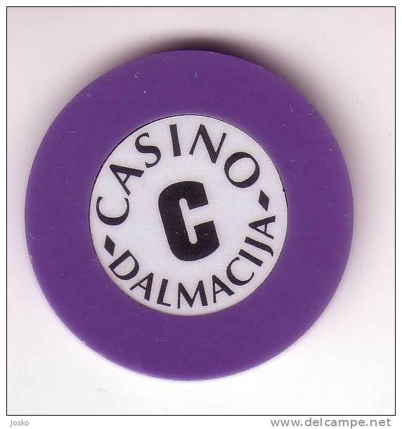 CASINO JETON Dalmacija - Makarska ( Croatie )  Token Spielmarke Vale Ficha Gettone Fiche Tokens Jetons Gettones - Casino