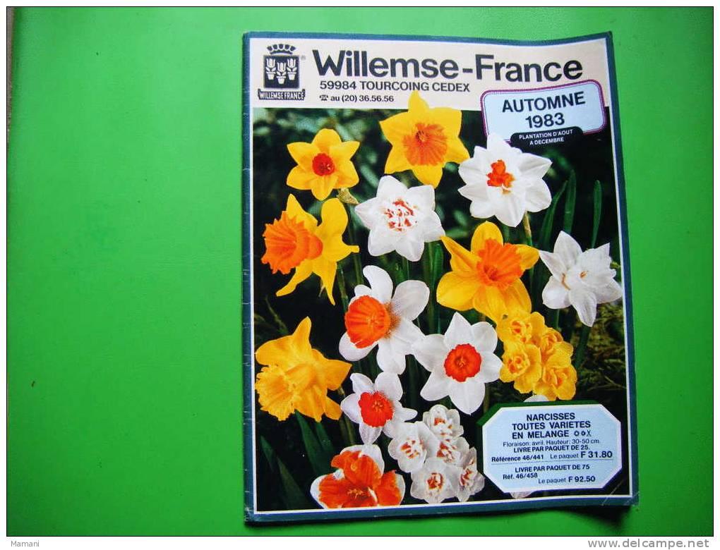 Catalogue Willemse-france  Automne 1983-.- - B. Piante Fiorite & Fiori