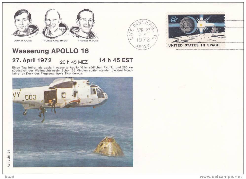 APOLLO 16 - Obl.Cape Canaveral Le 27 Avril 1972 - Etats-Unis