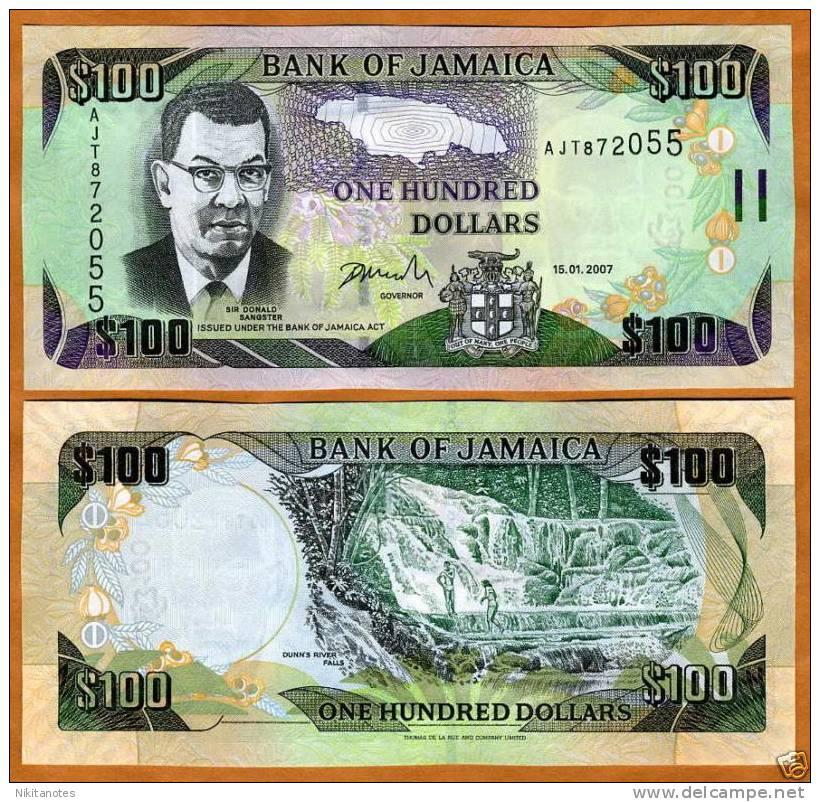 Jamaica, $100, 2007, P-NEW, P-84, UNC - Jamaique