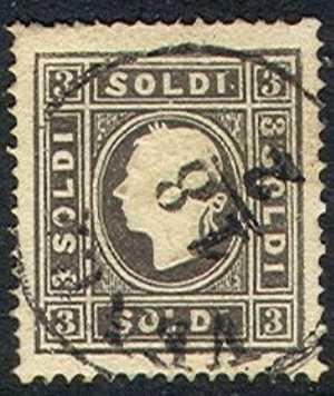 Lombardy-Venetia    8, Type Ll,  Used, SCV$175,  (lv008-1, Michel  7ll - Lombardy-Venetia