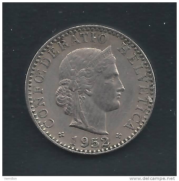 CH--005. Piece De 0.20 Centimes De 1952, Voir IMAGE Pour Detail , PEU COURANT !! - Suiza