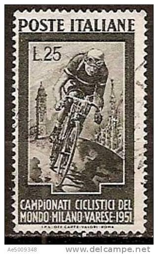 ITALIE -- N°607    Obliteré -- 1951 - 1946-60: Afgestempeld