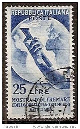 ITALIE -- N°629    Obliteré -- 1952 - 1946-60: Usati