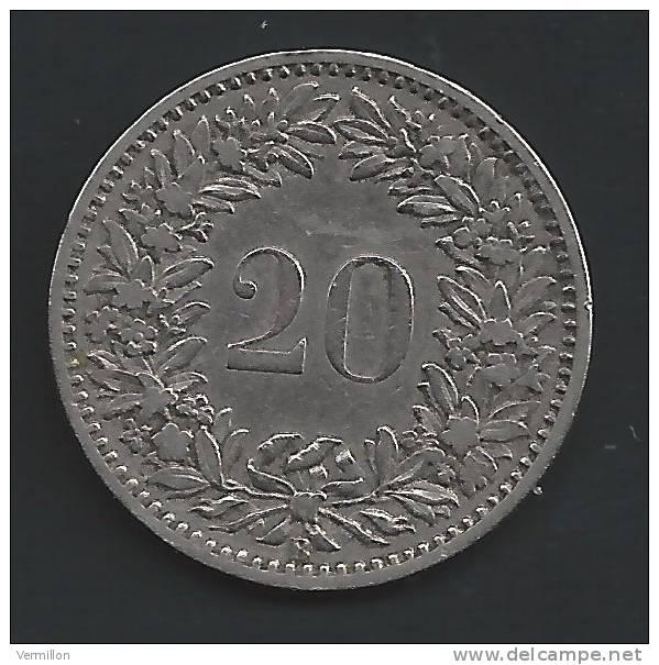 CH--016. Piece De 0.20 Centimes De 1884, Voir Scan Pour Detail , PEU COURANT !! - Suiza