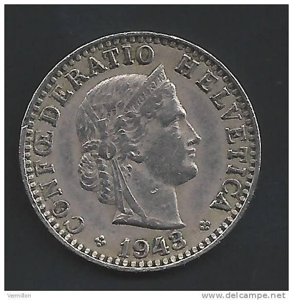 CH--003. Piece De 0.20 Centimes De 1943, Voir Scan Pour Detail , PEU COURANT !! - Suiza