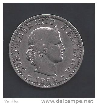 CH--009. Piece De 0.20 Centimes De 1884, Voir IMAGE  Pour Detail , PEU COURANT !! - Suiza