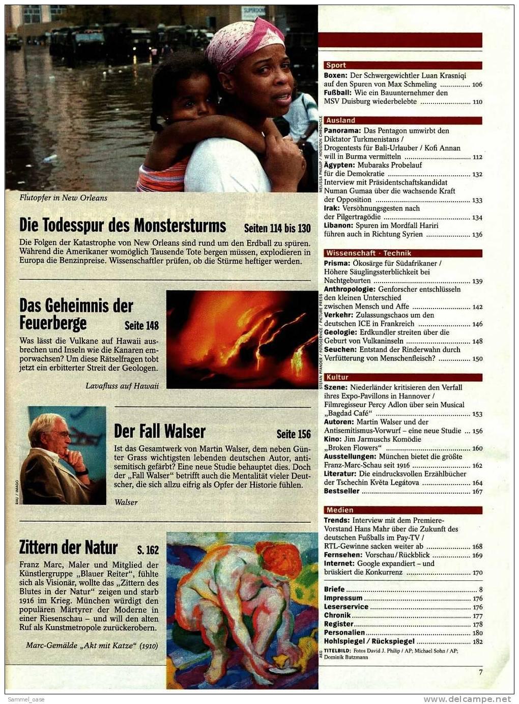 Der Spiegel  Nr. 36 / 2005  -  Der Untergang Von New Orleans  -  Duell Um Die Zukunft : Er Oder Sie - Ohne Zuordnung