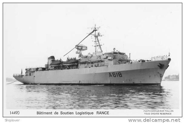 Bâtiment De Soutien Logistique RANCE (Marine Nationale) Carte Photo Marius Bar Réf. 14490 - Krieg