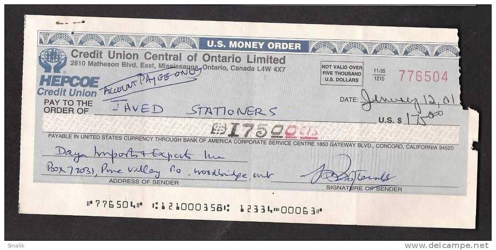 Cashier's Check - Bank Money Order - 92.2KB