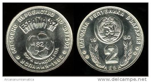 """BULGARIA  """"PROOF""""2  LEVA  CU NI  1.980   MUNDIAL DE FUTBOL   KM#108  SC/UNC   DL-9547 - Bulgaria"""