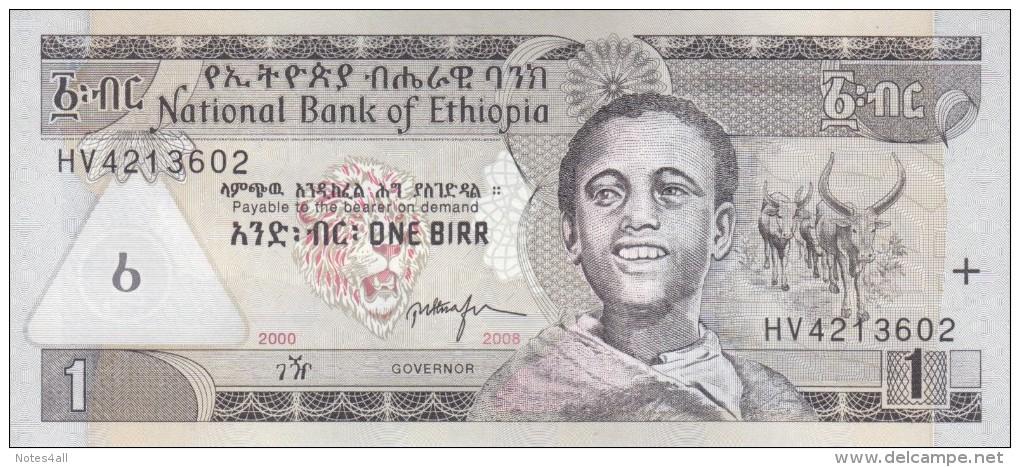 ETHIOPIA 1 BIRR 2008 P-46e UNC */* - Ethiopie