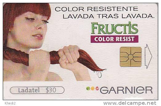 Télécarte à Puce Mexique - Fructis Garnier PARFUM Cosmétiques Coiffure - Chip Phonecard Perfume Cosmetics  - 128 - Parfum