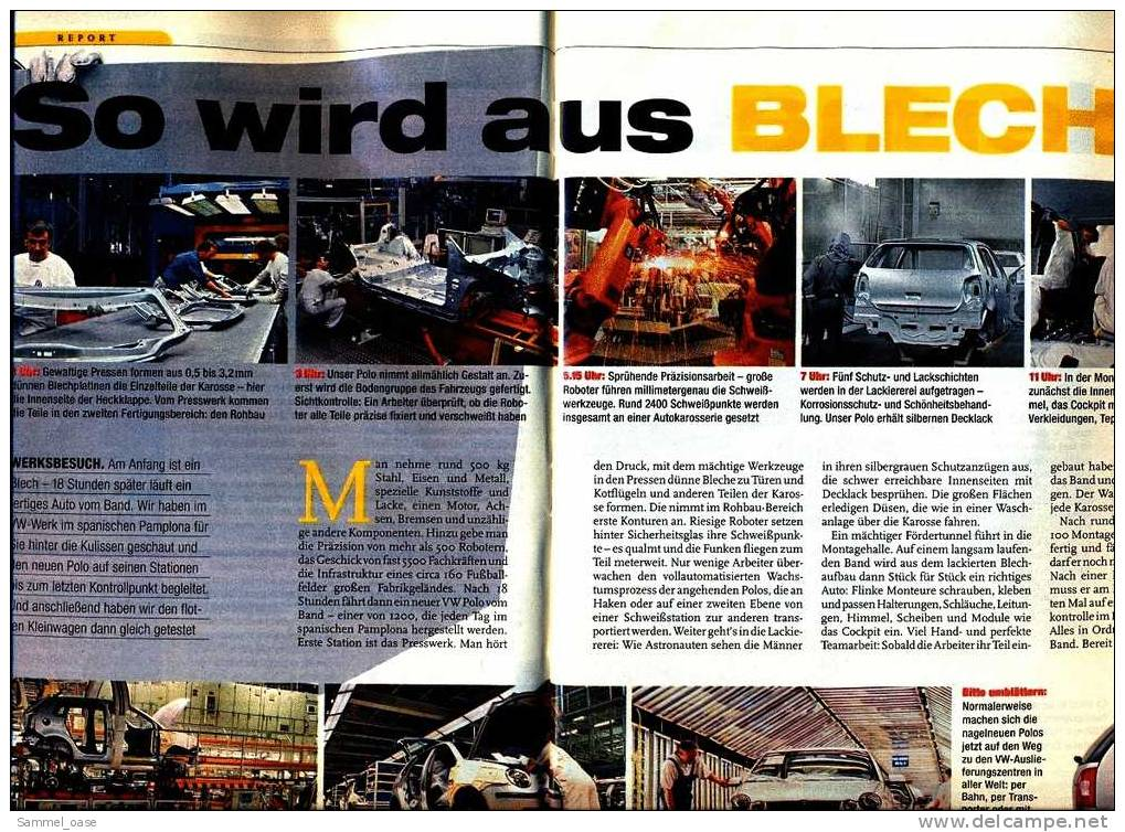 ADAC Motorwelt   11 / 2001  Mit :  Zwei Klasse Typen : VW Polo Und BMW 745i  -  Wie Ein Polo Entsteht - Auto & Verkehr