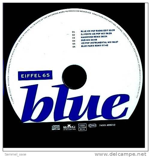 Musik Maxi CD  -  Eiffel 65  -  Blue  -  Neuwertig - Disco, Pop
