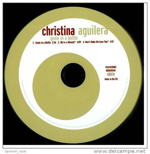 Musik Maxi CD  -  Christina Aquilera  -  Genie In A Bottle  -  Neuwertig - Disco, Pop