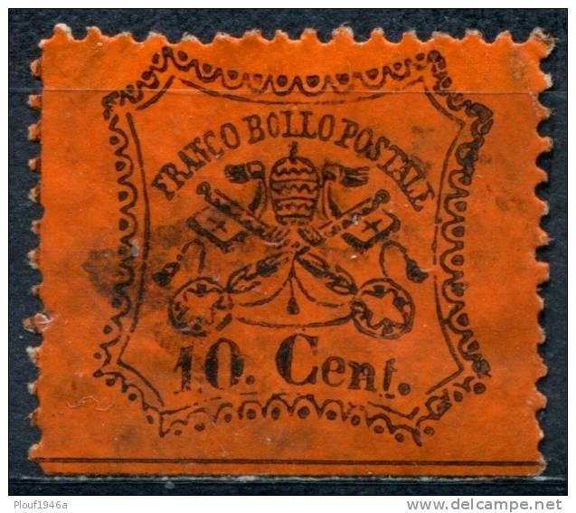 Pays : 245,4 (Italie: Eglise (Etats Pontificaux))  Yvert Et Tellier N° :  22 (o) - Etats Pontificaux