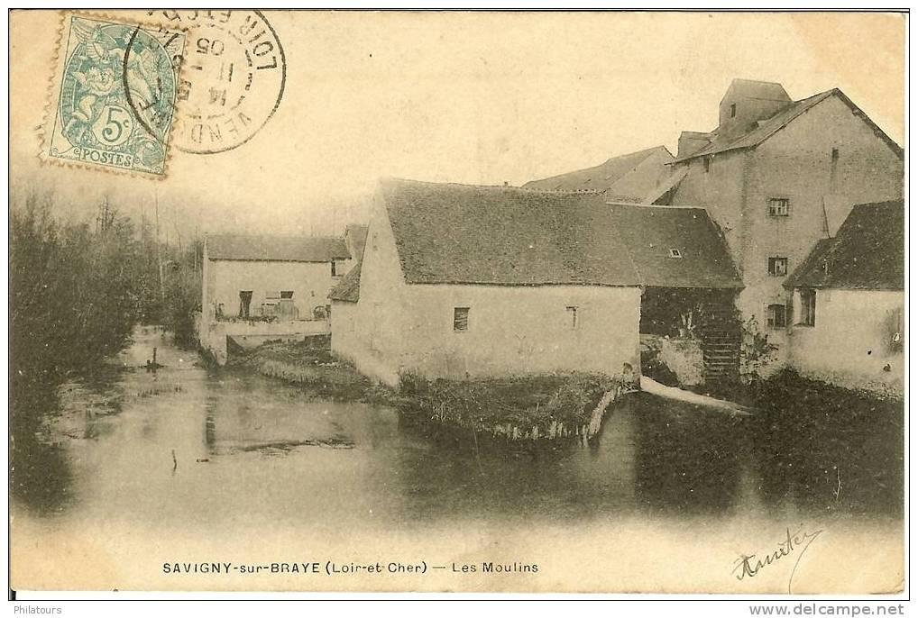 SAVIGNY-SUR-BRAYE  -  Les Moulins - 1905 - France