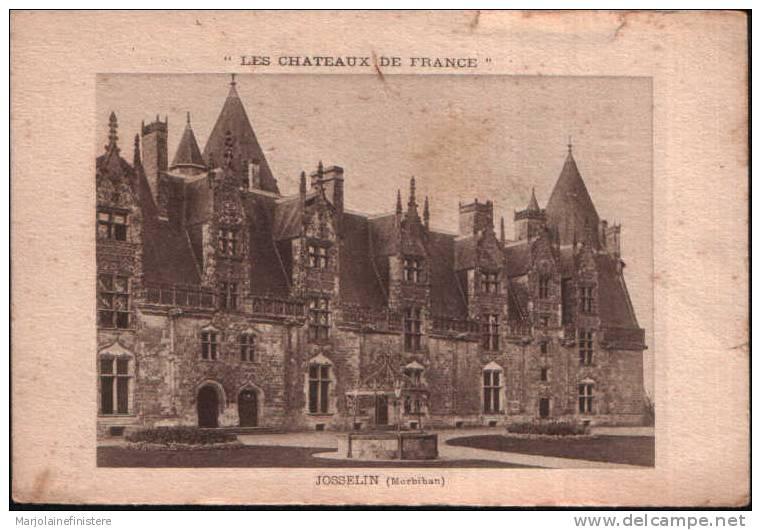Carte Ancienne Publicité. JOSSELIN ( Morbihan) - Advertising