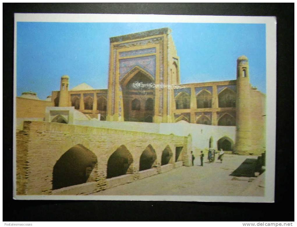 5535 UZBEKISTAN KHIVA CHIWA THE ALLAKULI - KHAN MADRASSAH THE PORTAL POSTCARD AÑOS 70 - TENGO MAS POSTALES - Uzbekistán