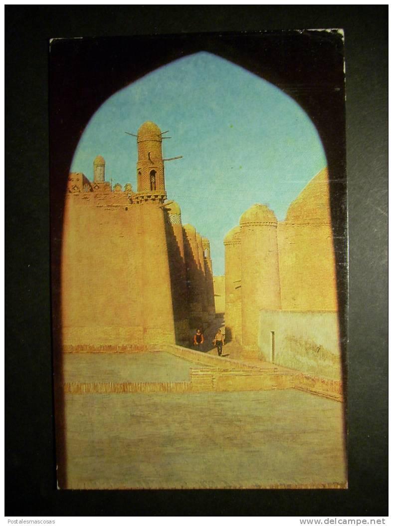 5547 UZBEKISTAN KHIVA CHIWA STREET NEAR TASH - KHAULI PALACE CALLE DEL PALACIO TASH JAULI AÑOS 60/70 TENGO MAS POSTALES - Uzbekistán