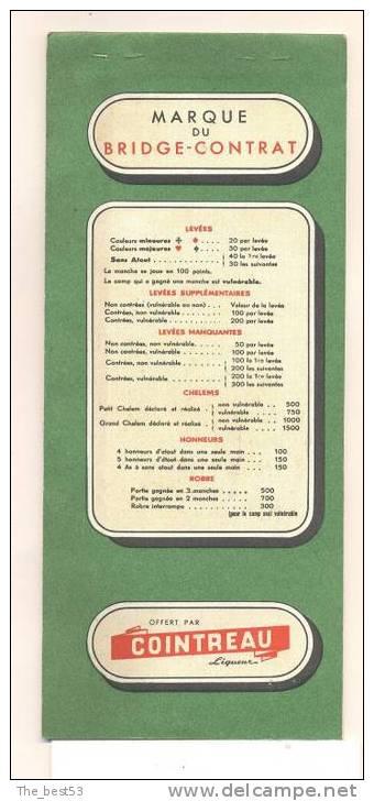 """Carnet Complet De Marque Points De Bridge"""" Offert Par Cointreau """" Angers, Illustrateur Jean A. Mercier - Cartes à Jouer"""