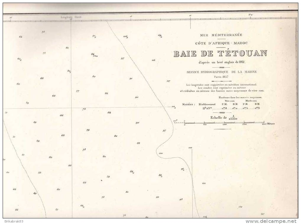 Carte Marine - Maroc . Baie De Tétouan - - Nautical Charts