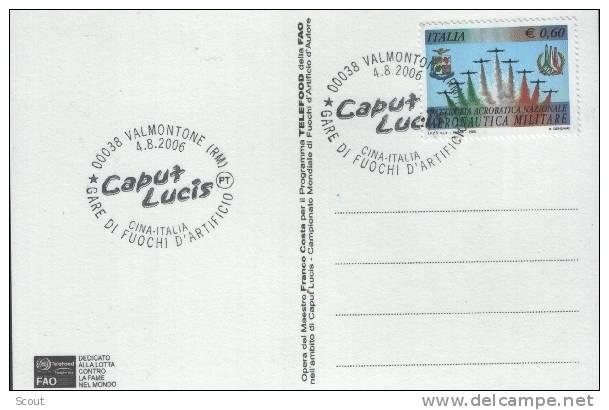 ITALIA - ITALIE - ITALY - 04/08/2006 - 00038 VALMONTONE (RM) - CAPUT LUCIS - GARE DI FUOCHI D´ARTICIO -ITALIA-CINA - 6. 1946-.. Repubblica
