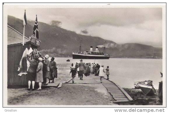 AANDALSNAES (NORVEGE) CARTE PHOTO BATEAU ET ANIMATION - Norvège
