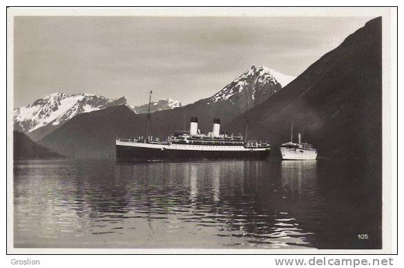 NORANGSFJORD 105 (NORVEGE) CARTE PHOTO AVEC BATEAUX BEAU PLAN - Norvège