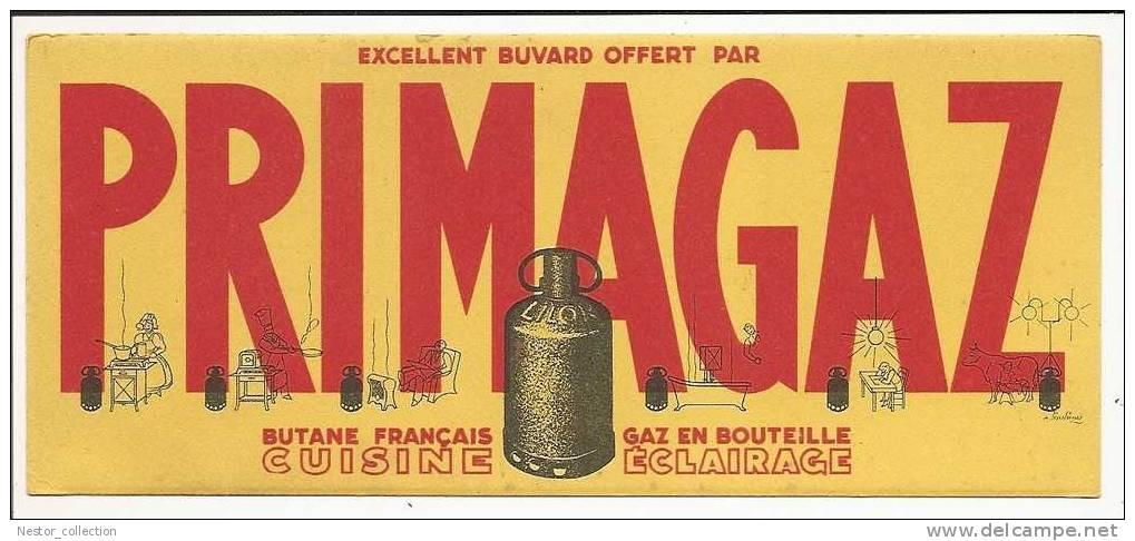 PRIMAGAZ Butane Français, Gaz En Bouteille Cuisine, éclairage. Buvard - Electricité & Gaz