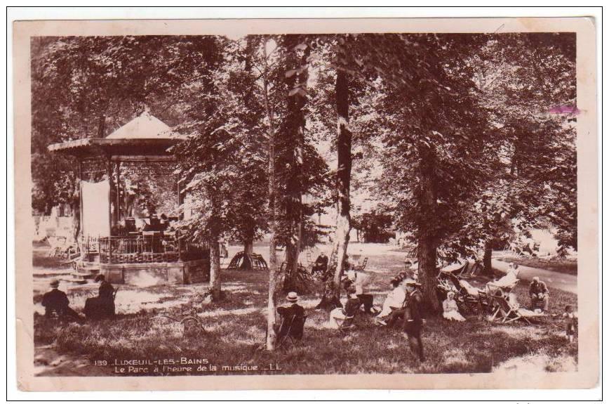 LUXEUIL    Le Parc à L´heure De La Musique - Luxeuil Les Bains