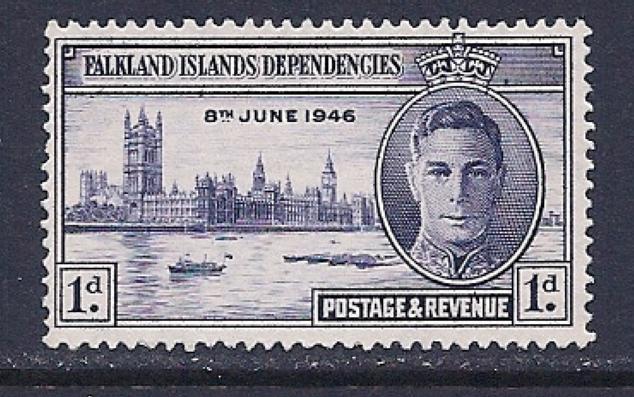 Falkland Islands, Scott # 1L9 Used Peace Issue, 1946 - Falkland