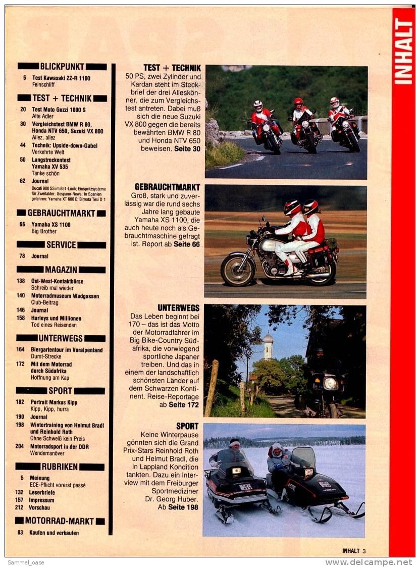 Motorrad Zeitschrift  7 / 1990 - Mit :  Vergleichstest : Suzuki VX 800  -  Honda NTV 650  -  BMW R 80 - Auto & Verkehr