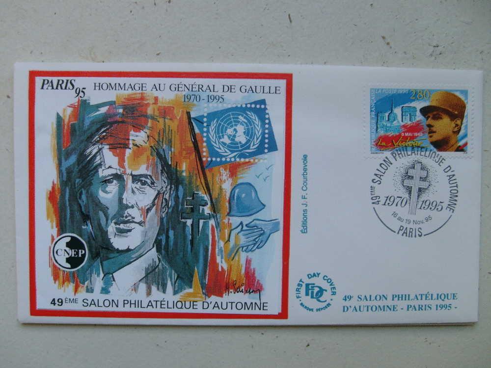 France Premier Jour Bloc Cnep 1995 - CNEP