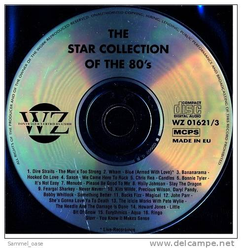 Musik CD  -  The Star Collection Of The 80's ,  WZ 01621/ 3  Neuwertig - Disco, Pop