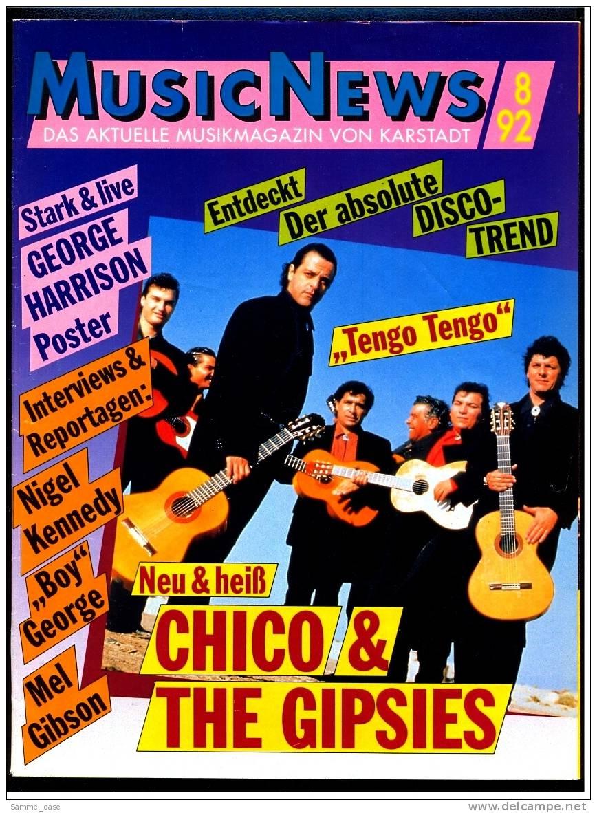 Altes Musikmagazin Musicnews  -  Interview : Nigel Kennedy  ,  Roxettes Geheimnis Gelüftet  -  Von 1992 - Varia