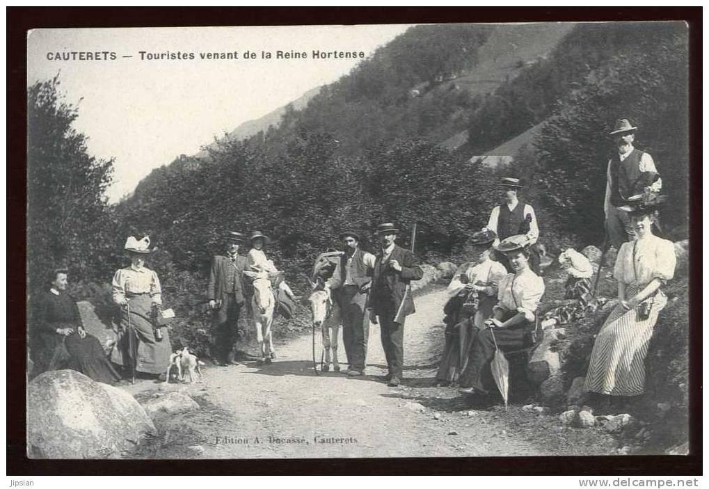 Cpa Du 65 Cauterets Touristes Venant De La Reine De La Reine Hortense G22 - Cauterets