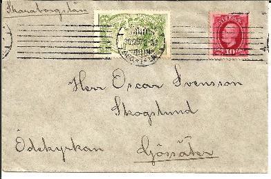 S001a/  Ex Valgöronhets Marke 1907 Auf Auslandsbrief - Schweden