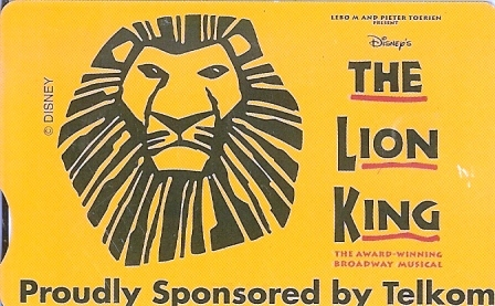 "SOUTH AFRICA Used Phonecard/ Gebruiklte Telefoonkaart ""THE LION KING"" - South Africa"