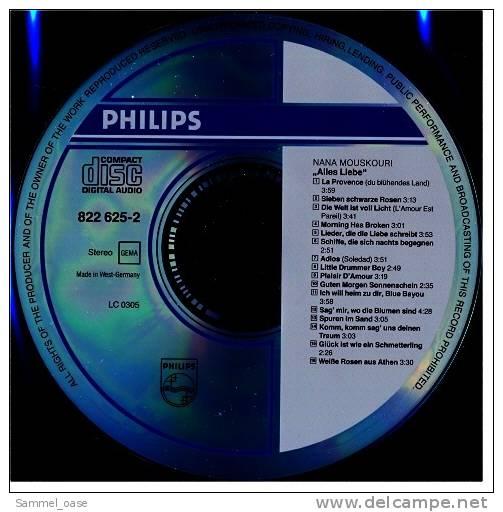 Musik CD Album  -  Nana Mouskouri  -  Alles Liebe  -  16 Ihrer Schönsten Lieder  -  Neuwertig - Disco, Pop
