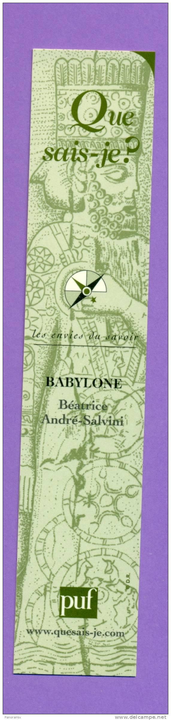 "Puf   Que  Suis - Je   ""  Babylone  ""   4 X 20 Cm - Marque-Pages"