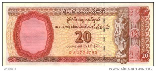 MYANMAR P. FX4 20 D 1993 UNC - Myanmar