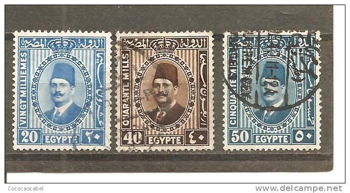 Egipto - Egypt. Nº Yvert  125A-B- 126 (usado) (o). - Usados