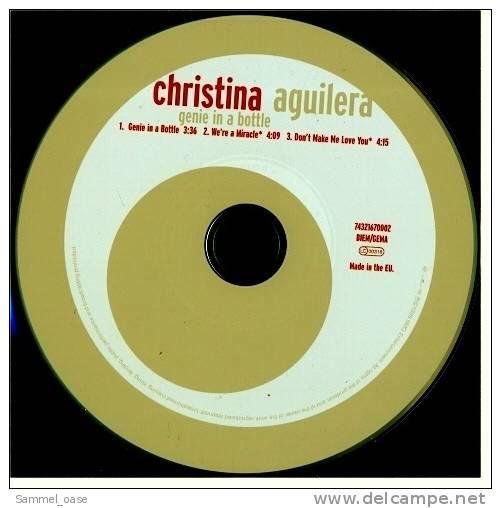 Musik CD  Maxi  -  Christina Aquilera  -  Genie In A Bottle  ,  Neuwertig - Disco, Pop