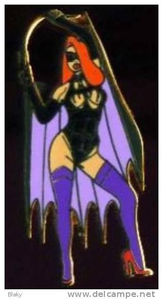 JESSICA RABBIT BATMAN -DISNEY-pin BATGIRL Goth Gothic 5  Limited Edition 100 Unités - Pin-ups